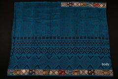 Bagru Block Printed Chanderi patchwork Saree