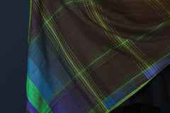 Special Jamdani Pure Handwoven Silk Cotton Dupatta with Tassels from Bengal