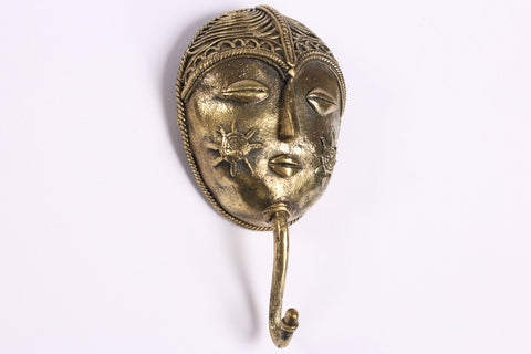 Bengal Dokra Craft - Mask Wall Hook / Hanging (Small)