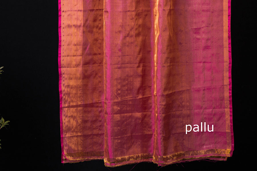Uppada Pattu Handloom Tissue Silk Plain Saree