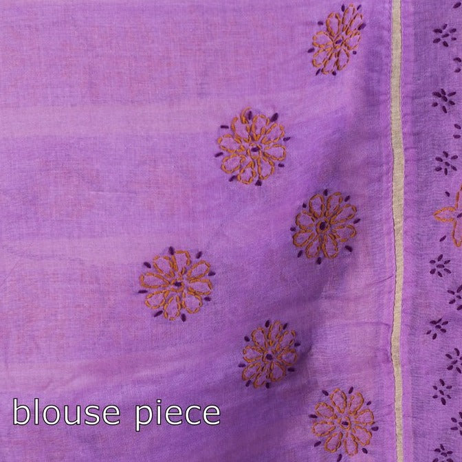 Chikankari Hand Embroidered Cotton Saree
