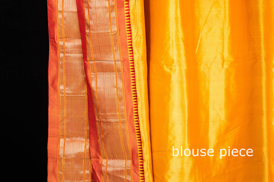 Special Pure Silk Narayanpet Handloom Saree with Paithani Zari Border