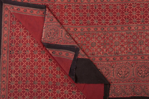 Special Pallu Kutch Ajrakh Cotton Saree with Blouse