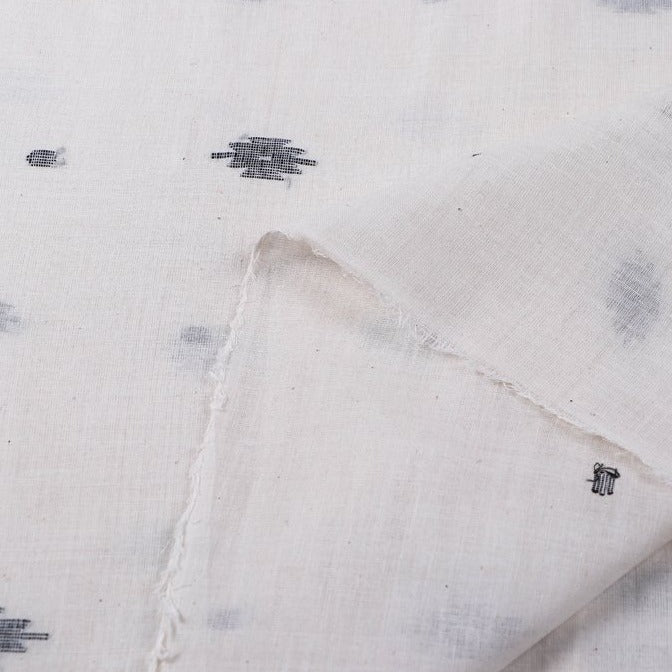 Bengal Jamdani Buti Handloom Soft Cotton Fabric