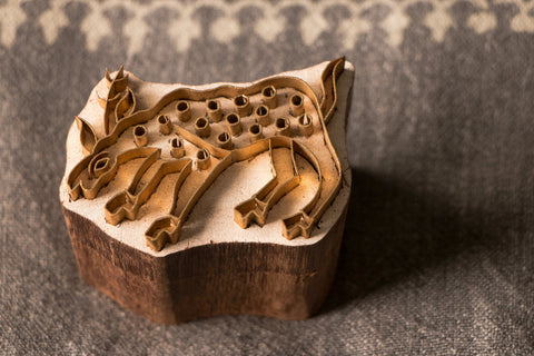 Sheesham Wood Farrukhabad Brass Printing Block