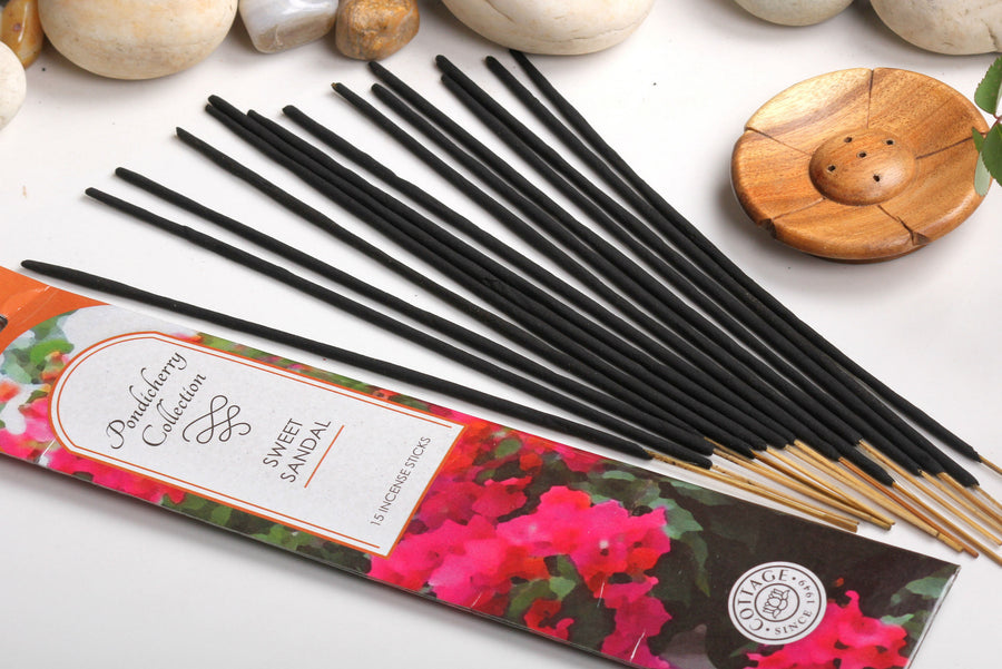 Sri Aurobindo Ashram - Pondicherry Collection Sweet Sandal Incense Sticks