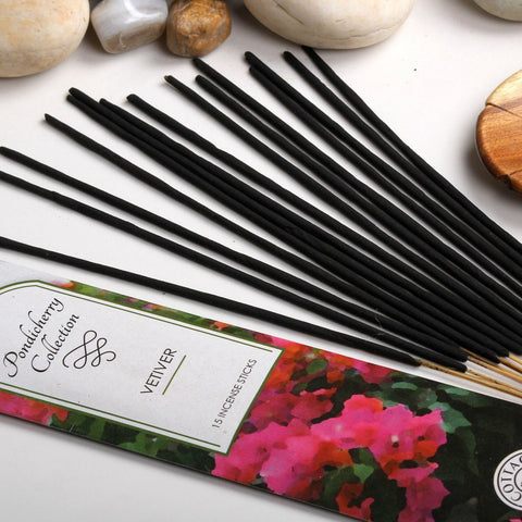 Sri Aurobindo Ashram - Pondicherry Collection Vetiver Incense Sticks