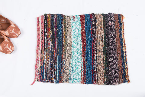 Upcycled Fabric Gudri Hand Braided Door Mat