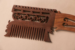 Hand Carved Sheesham Wood Comb (Big)
