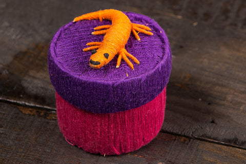 Handmade Coir Jewelry Box - Lizard