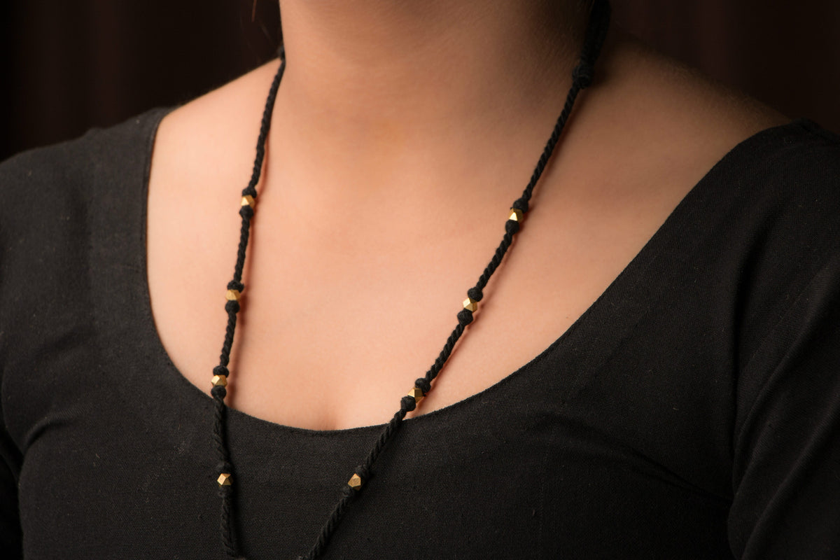 Handmade Patwa Threadwork Necklace Set