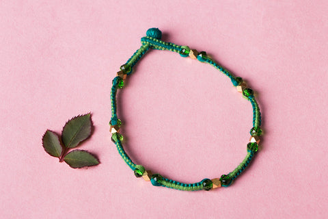 Patwa Threadwork Beads Anklet by Kailash Patwa
