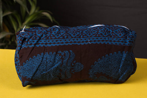 Bagh Print Multipurpose Cosmetic Toiletry Cotton Bag - 7in x 10in