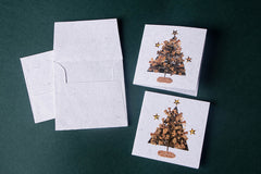 Flower Art Work Small Gift Card Christmas Tree - (Set of 2)