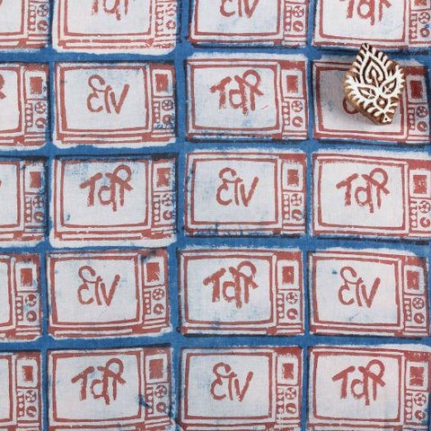 Bindaas Block Print Cotton Precut Fabric - 2.6 Meter
