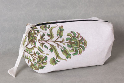 Handmade Cosmetic/Toiletry Cotton Pouch