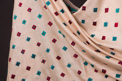 Phulkari Hand Embroidered Buti Silk Cotton Dupatta
