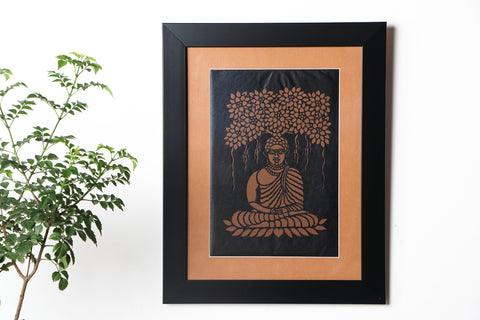 Sanjhi Paper Cut Artwork with Frame by Vijay Soni (38cm x 28cm)