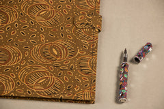 Handmade File Folder with Block Print Fabric
