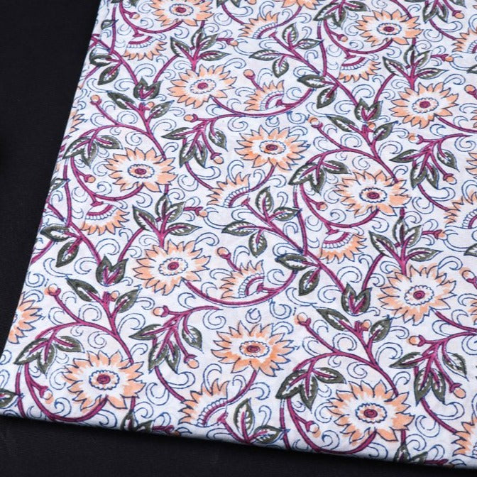 Special Sanganeri Hand Block Printed Cotton Fabric
