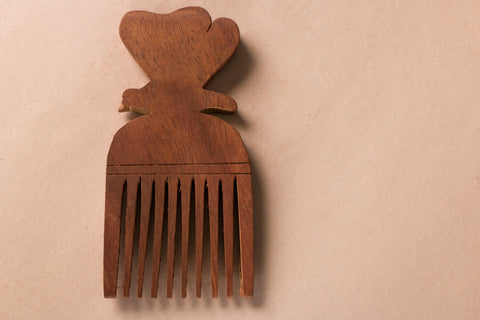 Hand Carved Sheesham Wood Comb (Small)
