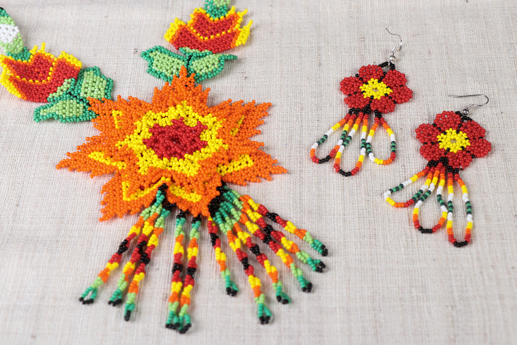 Hapur Beadwork Necklace Set by Aagaz