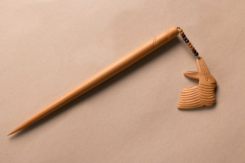 Hand Carved Wooden Juda Stick