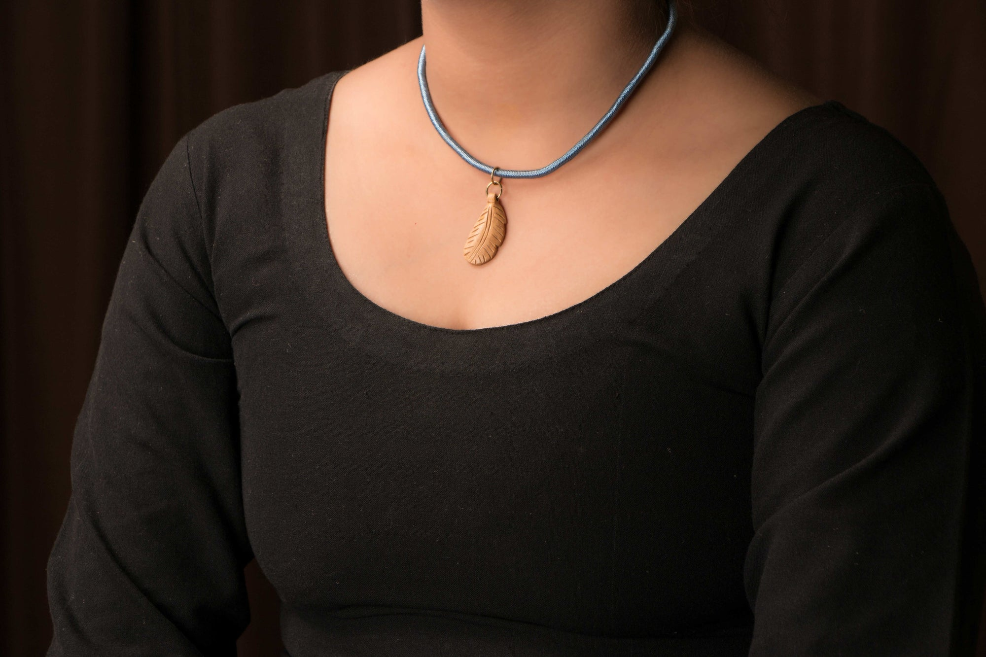 Handmade Patwa Threadwork Wooden Necklace