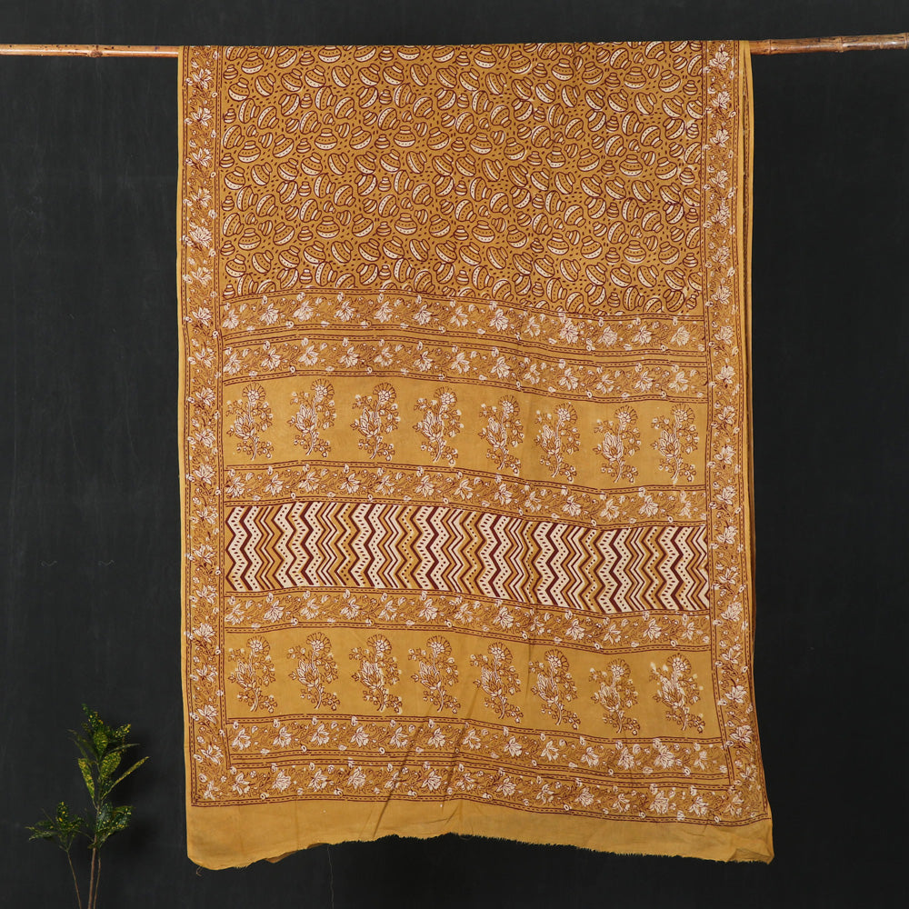 Nandana Dabu Print Natural Dye Cotton Saree from Tarapur