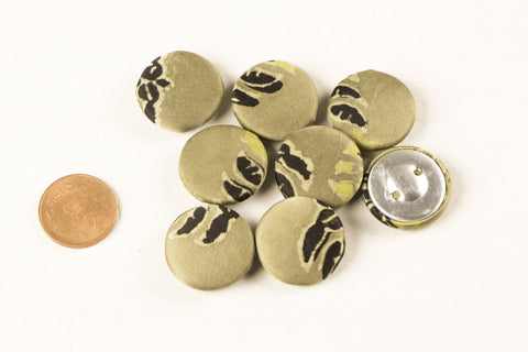 Ajrakh Silk Fabric Buttons Big (Set Of 8 )