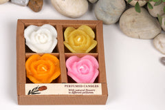 Sri Aurobindo Ashram - Rose Floating Candles Gift Set (Assorted)