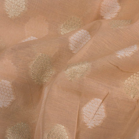 Traditional Pure Banarasi Cotton Cutwork Zari Buti Fabric