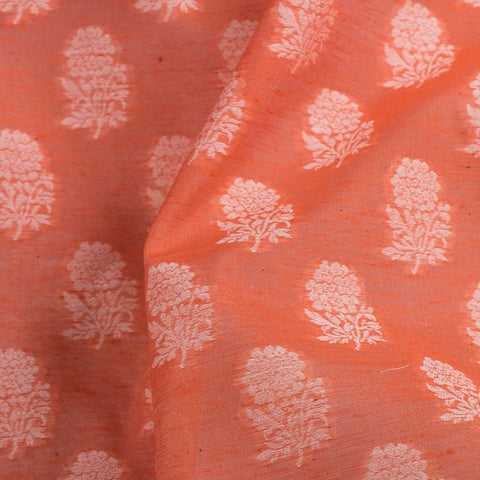 Traditional Pure Banarasi Cotton Cutwork Fabric