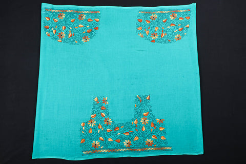 Bengal Heavy Kantha Embroidery Work Pure Cotton Blouse Piece