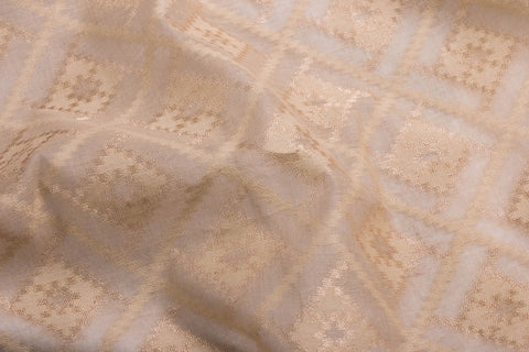 Traditional Pure Banarasi Silk Cotton Zari Work Fabric