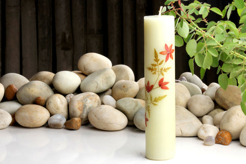 Sri Aurobindo Moulded Cylinder Maple Pecan Candles (Assorted)