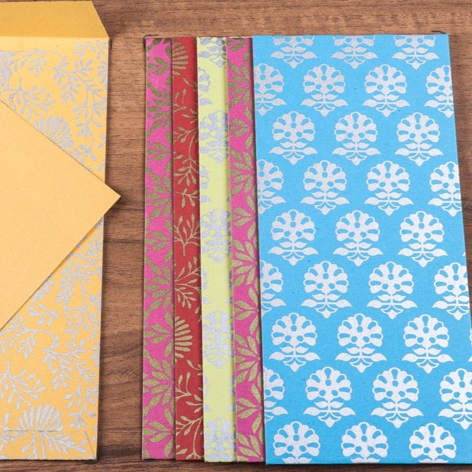 Sukirti Handmade Notecards with Envelopes (Assorted Set of 6)