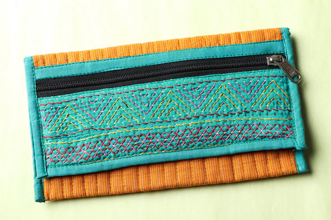 Nomads Hand Embroidered Clutch Wallet