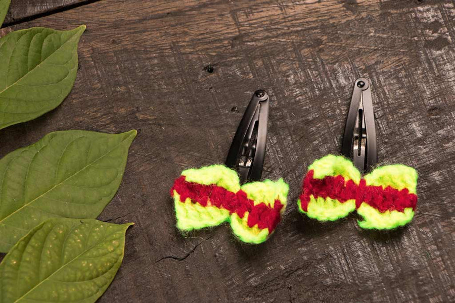 Tik-tak Hair clips - Crochet by Purnima