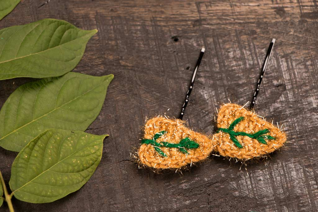 Hair pin - Crochet by Purnima