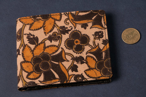 Unisex Wallet with Block Print Fabric