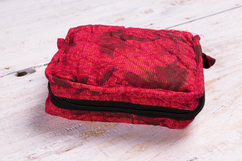 Matty Fabric 4 Pocket Cotton Jewelry Pouch