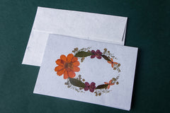 Intricate Flower Art Handmade Paper Gift Card - Single Piece