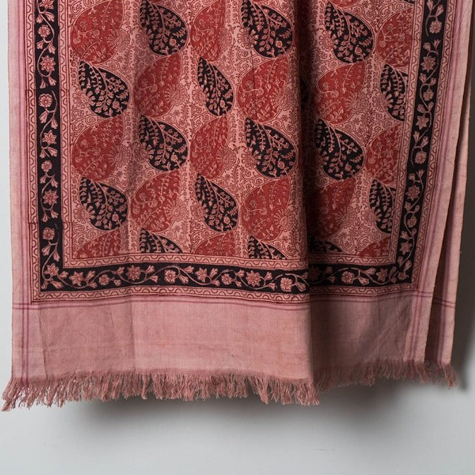 Pedana Kalamkari Natural Dyed Handloom Hand Block Printed Towel