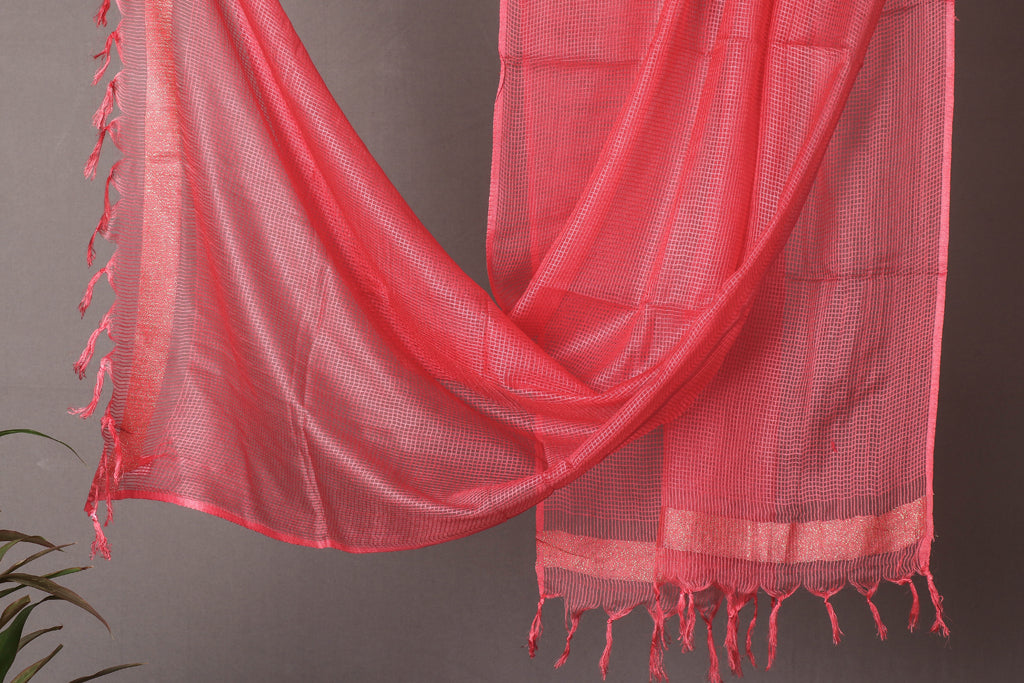 Jaipur Art Kota Silk Dupatta with Zari Border