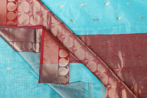 Traditional Chanderi Silk Zig Zag Zari Keri Handloom Saree by Rauph Khan