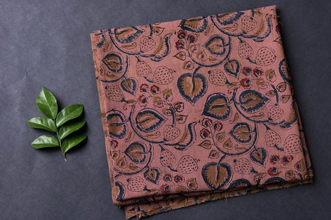 Prewashed Kalamkari Printed Mangalgiri Cotton Blouse Piece