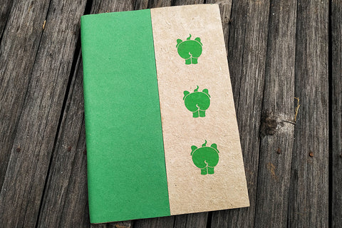 Ele Poo Paper Soft Cover Notebook (medium)