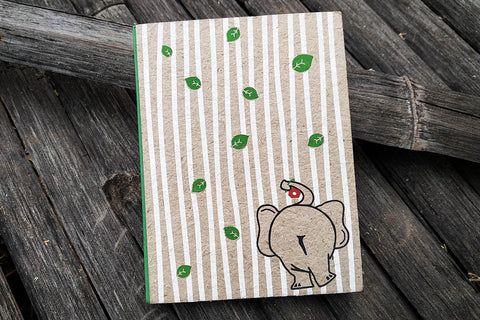 Ele Poo Paper Ele Leaves Green Notebook