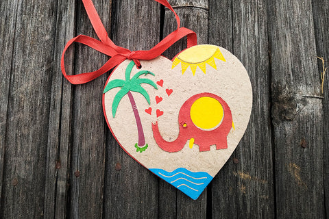 Ele Poo Paper Heart Gift Tag